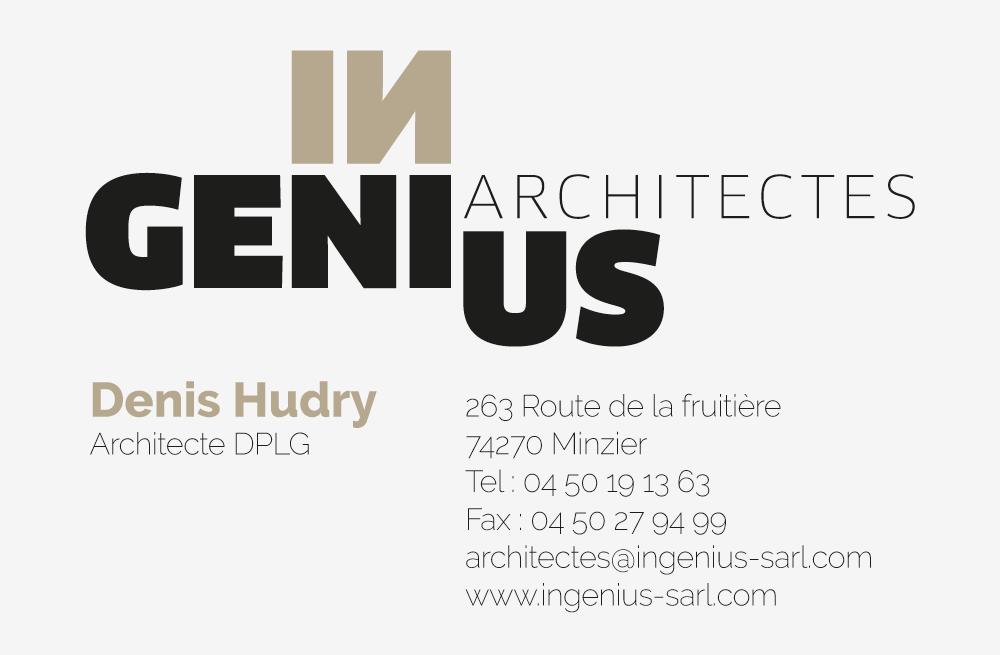 Charte Graphique Carte De Visite Architecte Haute Savoie